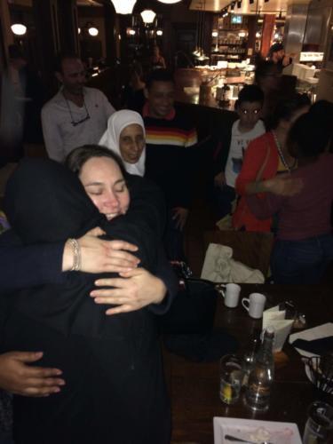 Communities built: Fond farewells between Colombian and Jordanian workshop participants.