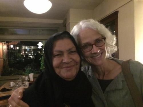 Palestinian miller Aysheh Azzam and Elizabeth Vibert
