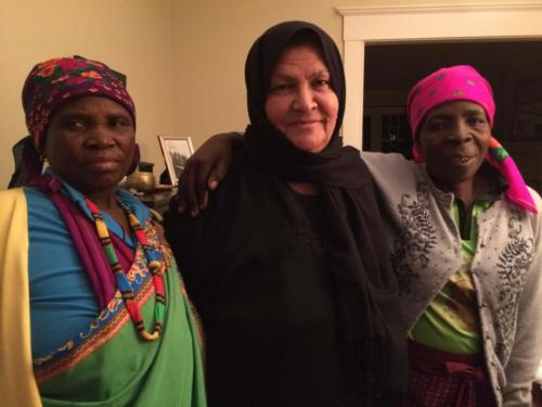 Mphephu Mtsenga and Josephine Mathebula of South Africa with Aysheh Azzam of Jordan