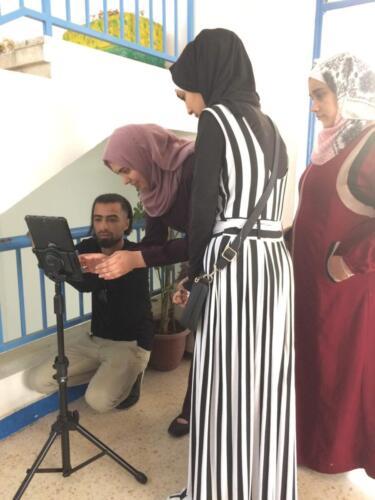Students edit video footage